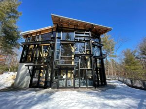 Window cleaning at the Summer Star Wildlife Sanctuary in Boylston MA
